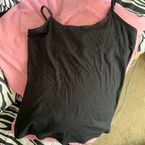 NWT XL Black Camisole w/shelf bra